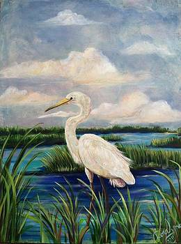 Lonesome Egret by Doralynn Lowe