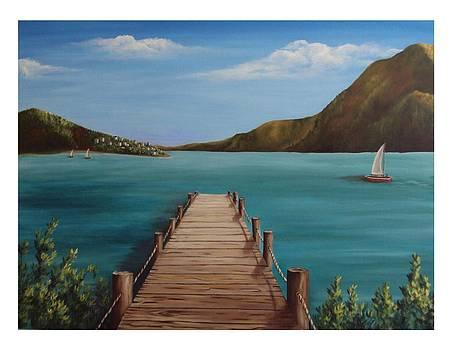 Long Bay Dock by Debra CerboneSteiner