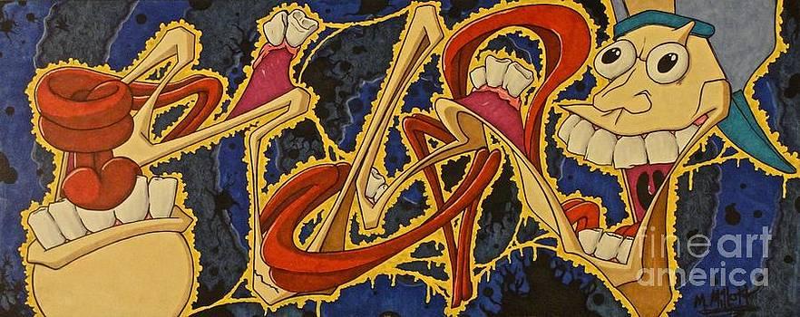Long Graffiti Face  by Mark  Millett