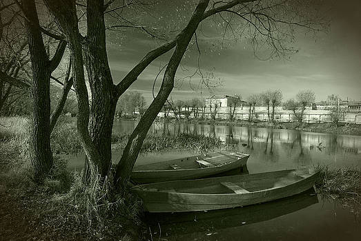 Looking at the river by Konstantin Gushcha