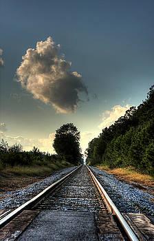 Looking Down Rail by David Paul Murray