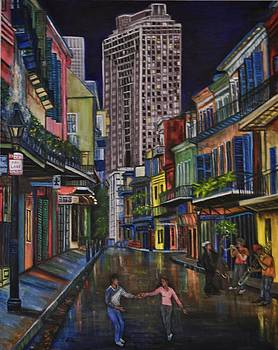 Looking down Royal St. 2 by Terry Sita