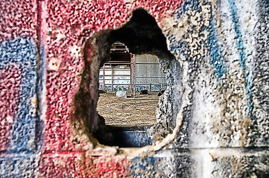 Looking through the wall by Cheryl Cencich