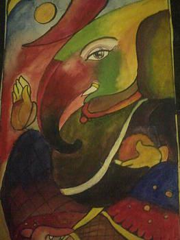 Lord Ganesh by Amisha Tripathy