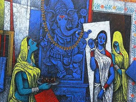 Lord Ganesha by Late H N Mishra