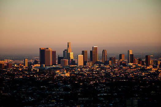 Los Angeles Skyline at Sunset by Heidi Reyher