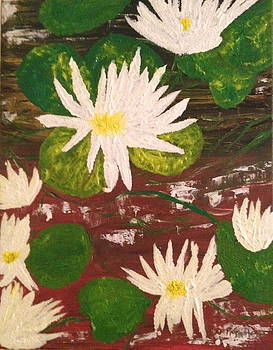 Lotus Flowers by Pretchill Smith