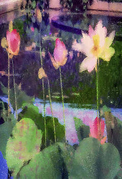Lotus Reflection - Vertical by Jill Balsam