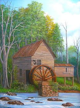 Loudermilk Grist Mill in Georgia by Vivian Eagleson