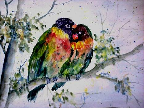 Love birds by Shashikanta Parida