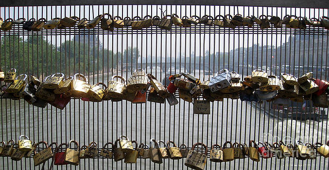 Love Locks Paris by AnneKarin Glass