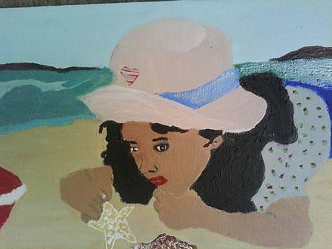 Loving The Beach by Mary Swanegan