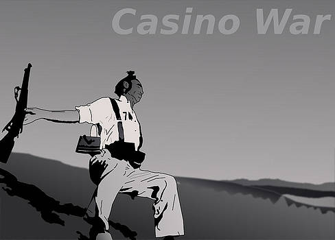 Loyalist Soldier at the moment of death by Casino Artist