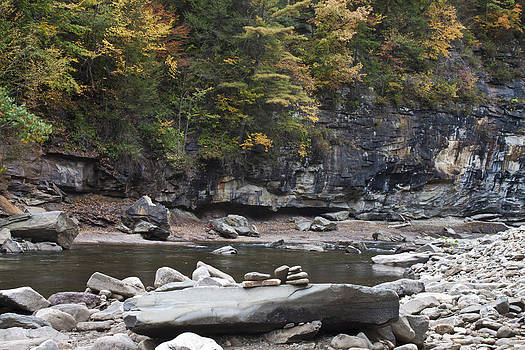Loyalsock Creek in the fall by Frank Morales Jr