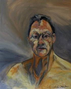 Lucian Freud Study From his Painting Reflection by Carolyn LeGrand