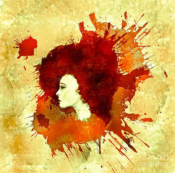 Lucidity in orange and red hue by Christina Mcmillen
