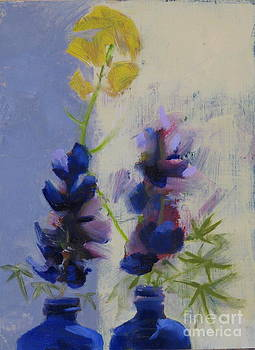 Lupine and Mustard by Candi Edmondson