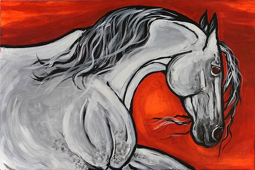 Lusitano Grey by Helen Scanlon