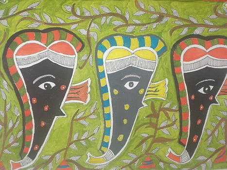 Madhubani painting by Radha Mani J