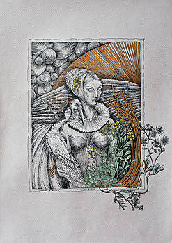Madonna and Phoenix by Marzena Ablewska- Lech