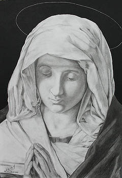 Madonna at Prayer by Miguel Rodriguez