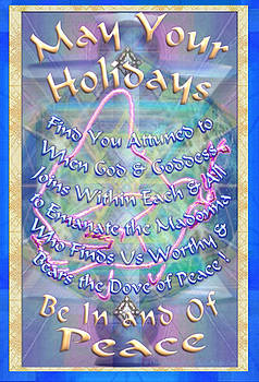 Madonna Dove and Chalice Vortex over the World Holiday Art with Text by Christopher Pringer