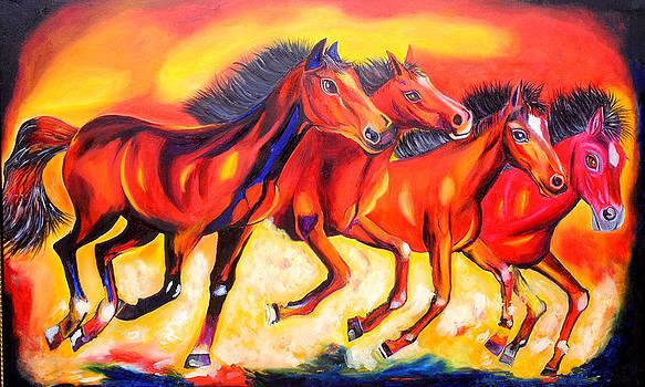 Magestic Horses by Nirendra Sawan