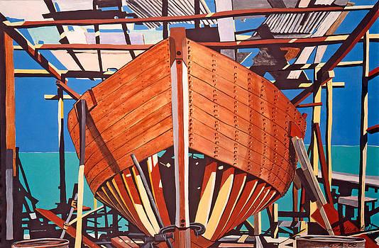 Mahogany boat by John Westerhold