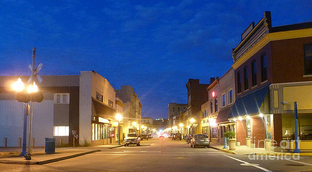 Main Street at Twilight by Bernadette Kazmarski