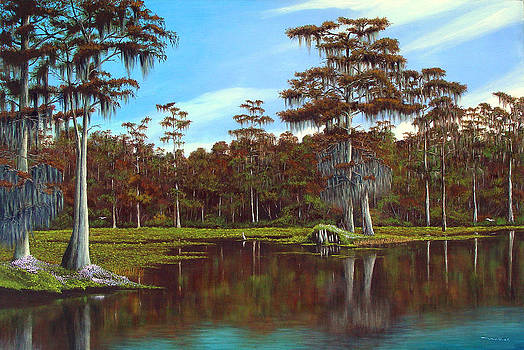 Majestic Cypresses of Wakulla Springs by Luis Nunez