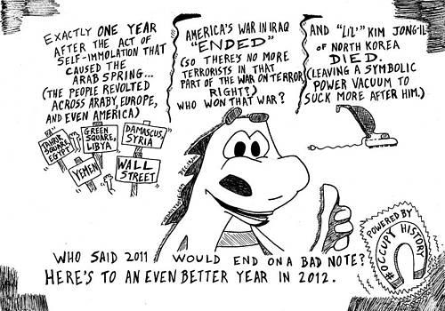 Major Events Of 2011 Recap Cartoon by Yasha Harari