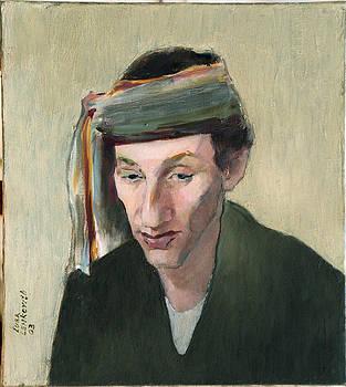 Male portrait by Liubov Meshulam Lemkovitch