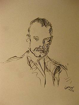 Male Portrait Sketch as a Tribute to JSS by M Zimmerman