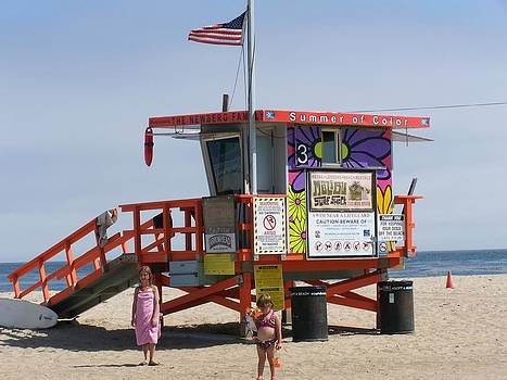 Malibu lifeguard tower by Patty Descalzi