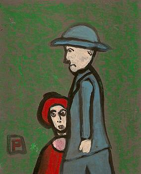 Man and child by Peter  McPartlin