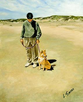 Man and his Shiba by Lorna Saiki