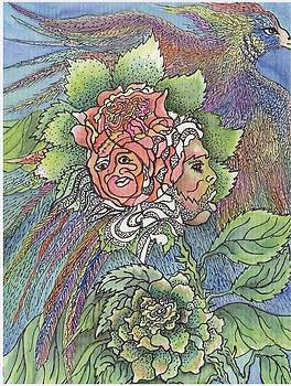 Man and Woman -n- Flower by Lenell Gent