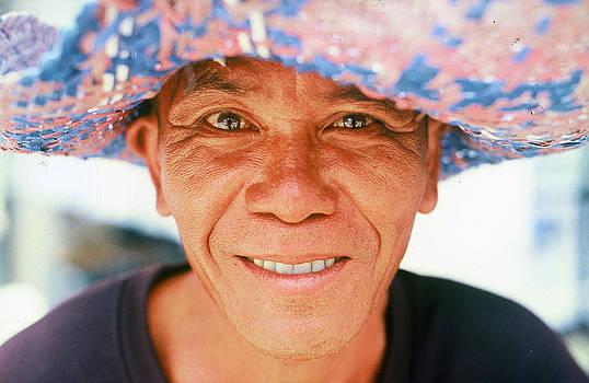 Man in hat by Georgii Chechin