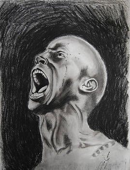 Man Screaming in Anger by Duane Cabahug