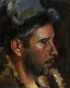 Man with a Fur Hat by Robert Dale Williams