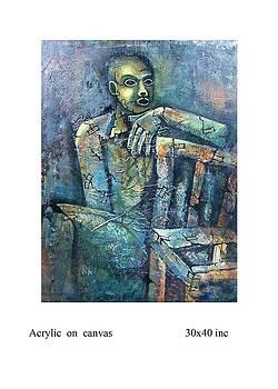 Man With Chair by Santu Saha