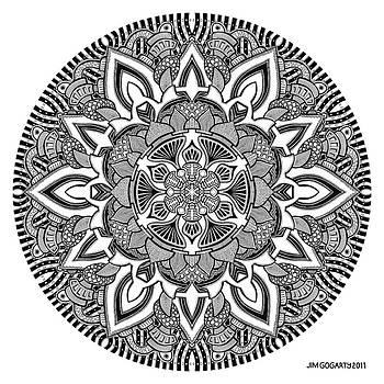 Mandala 10 drawing by Jim Gogarty