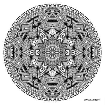 Mandala 25 drawing by Jim Gogarty
