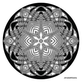 Mandala 40 drawing by Jim Gogarty