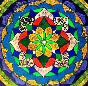 Mandala circle of life by Sandra Lira