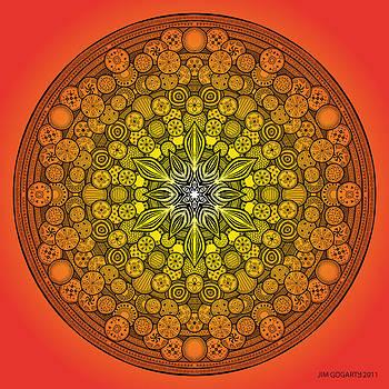 Mandala drawing 26 ORANGE by Jim Gogarty