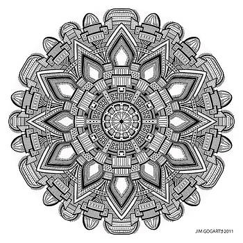 Mandala drawing 29 by Jim Gogarty