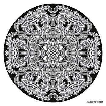 Mandala drawing 31 by Jim Gogarty