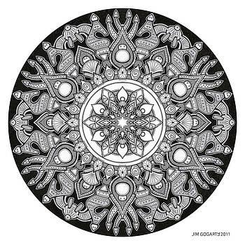 Mandala drawing 32 by Jim Gogarty