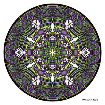 Mandala drawing 33 Coloured v1 by Jim Gogarty